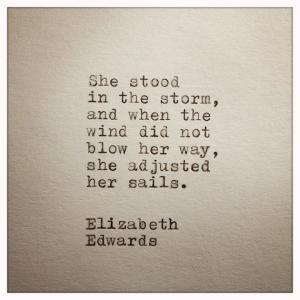 standing in storm